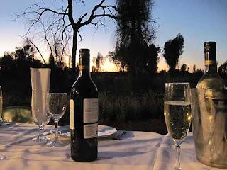 Sunset BBQ Near Uluru.