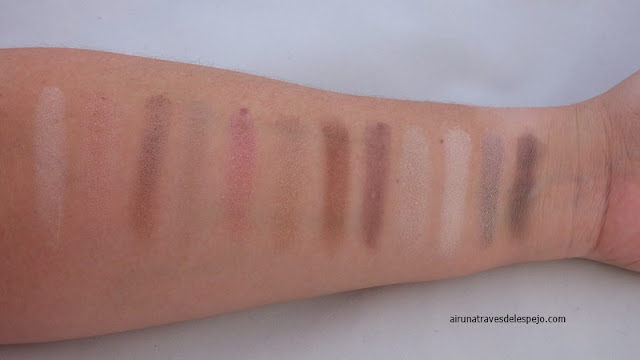 swatches sombras more than nude artdeco