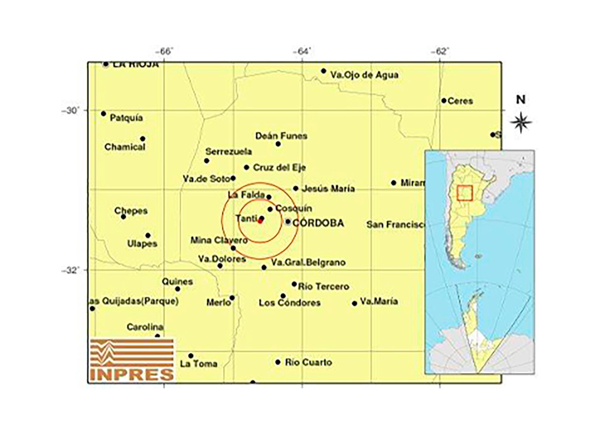 Temblor en Córdoba: fue de magnitud de 4.3º cerca de Tanti