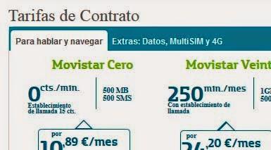 Todas las tarifas de Movistar en abril 2014