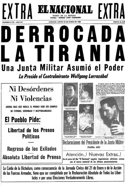 Fin de la Dictadura 1958