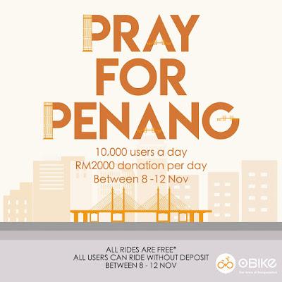 oBike Malaysia Free Rides No Deposit