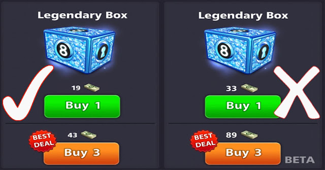 Legendary boxes 8 ball pool