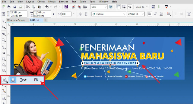 Free Banner.CDR : Desain Banner Penerimaan Mahasiswa Baru