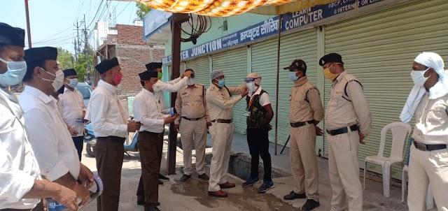 POLICE जवानो की मुस्तैदी एवं सजगता से नहीं फैल पाया कोरोना: सुरेंद्र सोलंकी, विभाग प्रचारक