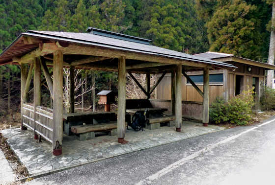 Rest area at Jizo Jaya Teahouse