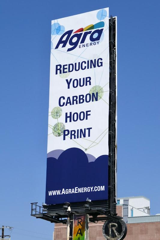 Agra Energy Reducing carbon hoof print billboard