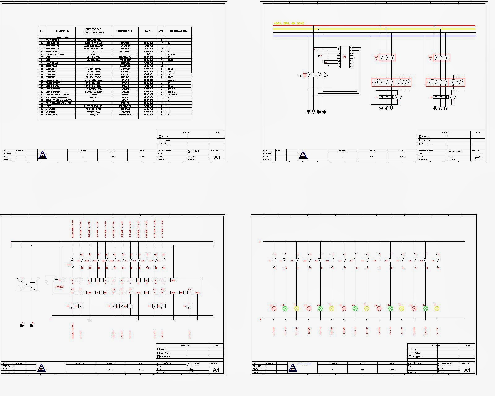 Single Line Diagram Autocad Electrical Wall Socket Wiring Mechanical Workshop Jasa Atau