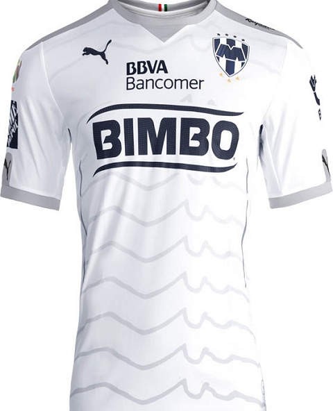 The Rayados Monterrey 2015-2016 Jersey features a unique collar with Mexican  flag details. 0be0bf6e5e763