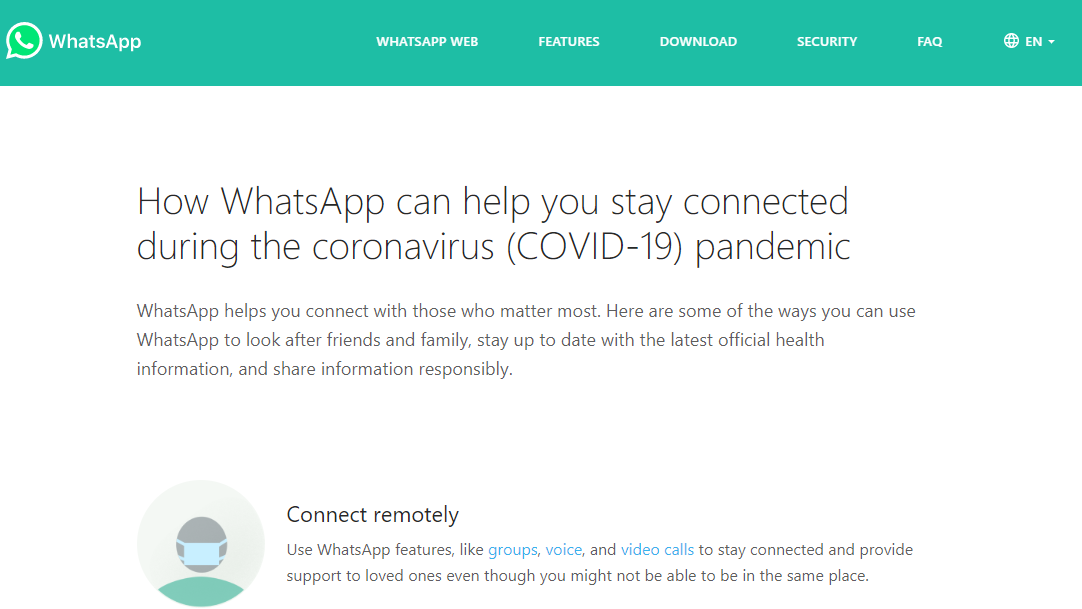 WhatsApp Has Launched a Coronavirus-Related information Center