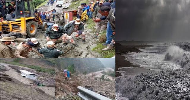 हिमाचल में बाढ़-बारिश ने छीन ली 12 लोगों की जिंदगी, अब करगिल में फट गया बादल भारी तबाही