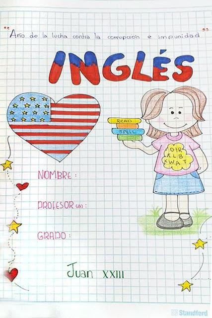 caratulas de ingles