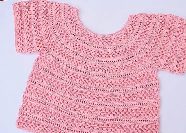 Tutorial Jersey o Blusa Primavera-Verano a Crochet