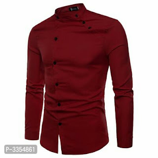 Men's Cotton Solid Slim Fit Shirt