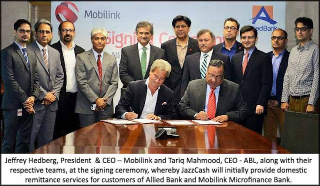 Allied Bank and Mobilink Partner to Promote Financial Inclusion and Domestic Remittance