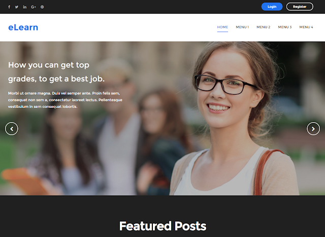 elearn Education Blogger template