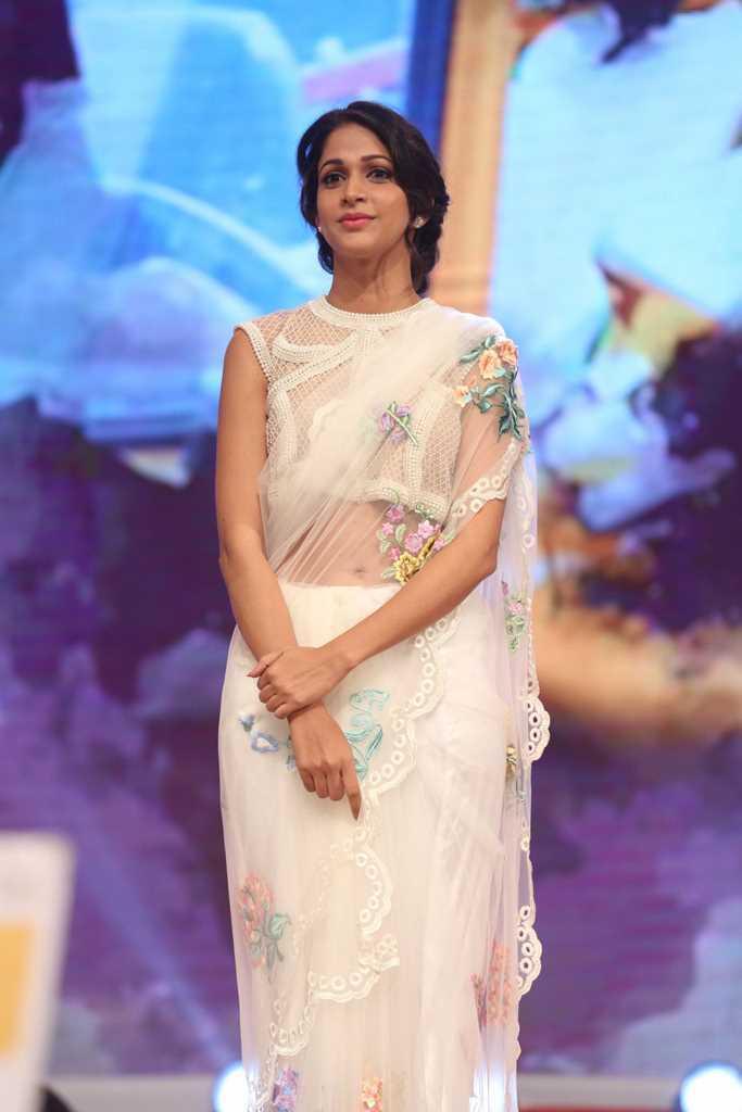 Lavanya Tripathi Stills At Audio Launch In White Dress