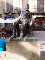 Estatua de Guimerà en BCN