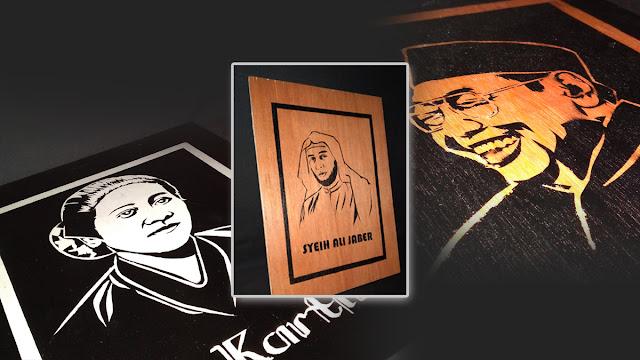 Lukisan Siluet Wajah Homemad (Seni Crafting Art)