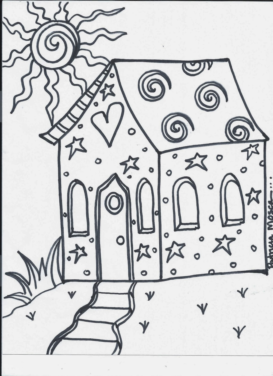 The Creative Playground: Your House...coloring book page