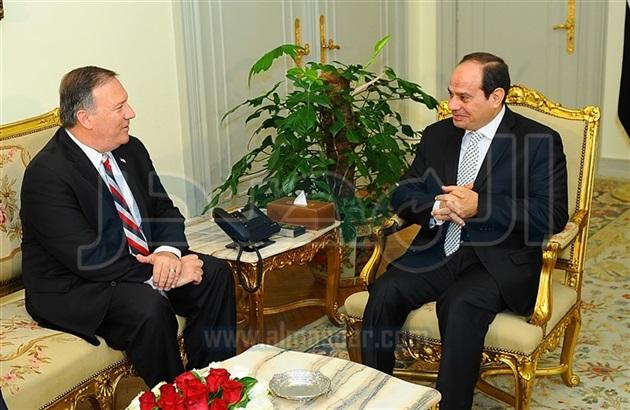 تفاصيل لقاء الرئيس المصرى عبد الفتاح السيسي ومدير المخابرات الأمريكى مايك وبومبيو