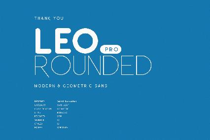 font Leo Rounded Pro