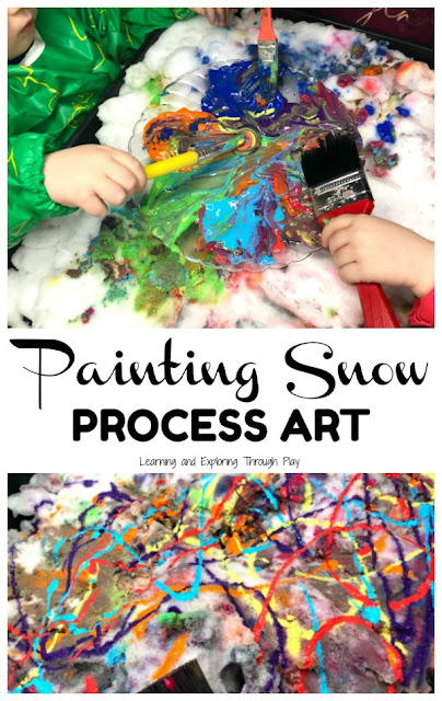 Painting Snow Process Art