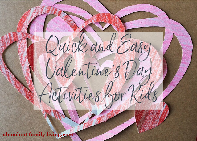 10 Quick and Easy Valentine's Day Activities for Kids - Roundup 2021