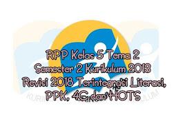 RPP Kelas 5 Tema 6 7 8 9 Semester 2 Kurikulum 2013 Revisi 2019 2020 Terintegrasi Literasi, PPK, 4C dan HOTS