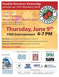 Strawberry Stroll June 9, 4:00 to 7:00 PM