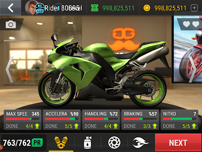 Racing fever moto unlimited money