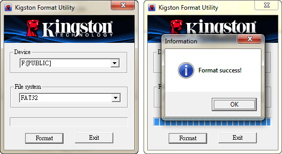 Kigston Format Utility