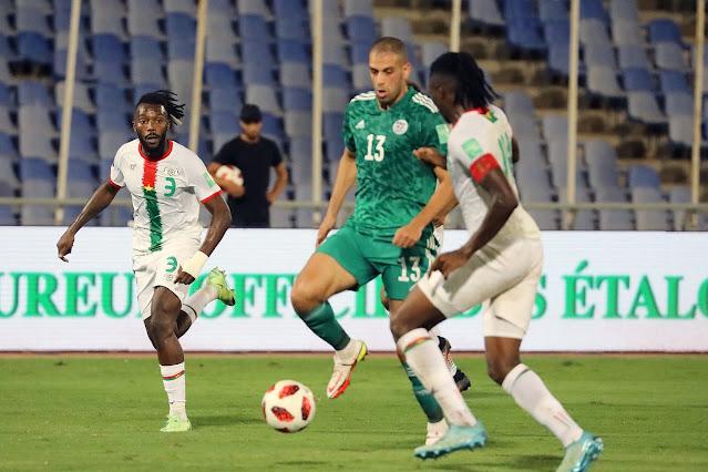 ملخص اهداف مباراة الجزائر وبوركينا فاسو (1-1) تصفيات كاس العالم