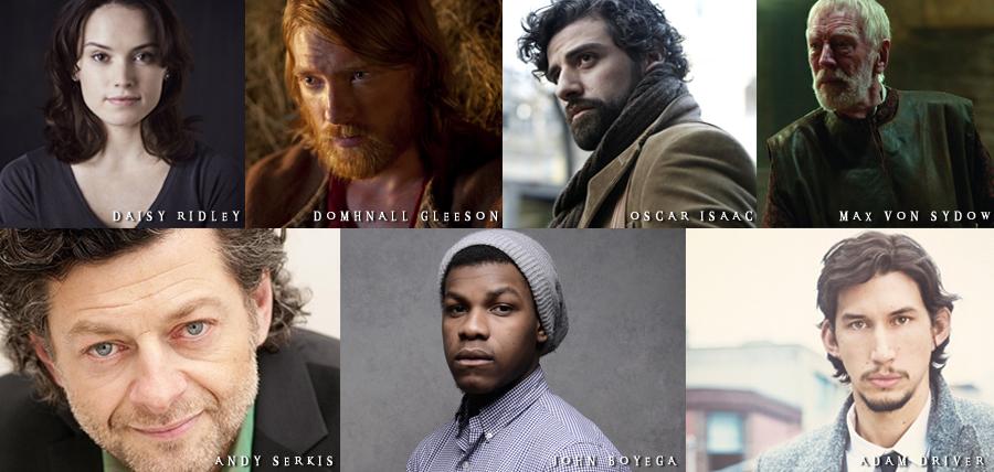 Numele actorilor noi din distribuţia filmului Star Wars: Episodul VII