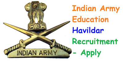 Indian Army Education Havildar 2016-2017