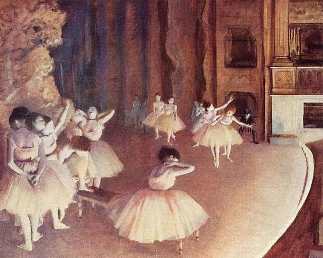 Edgar Degas clases de danza