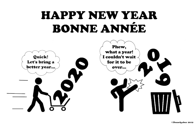 Happy New Year - Bonne Annee 2020 by ©Domelgabor 2019