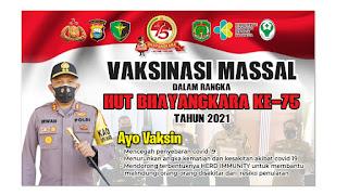 Vaksinasi Massal Dilaksanakan Polres Luwu Utara Secara Gratis Jelang HUT. Bhayangkara ke-75