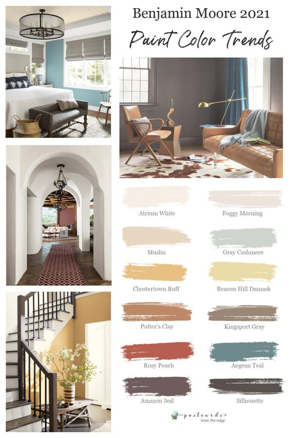 wall paint color ideas from Benjamin Moore