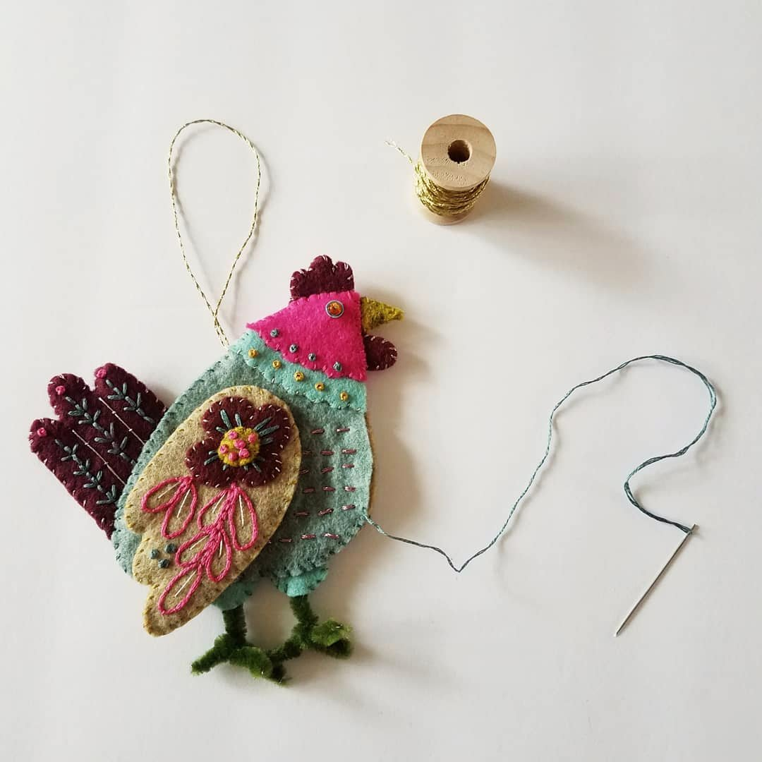 12 Months of Christmas Stitchalong 3 French Hen, a feature by floresita on Feeling Stitchy