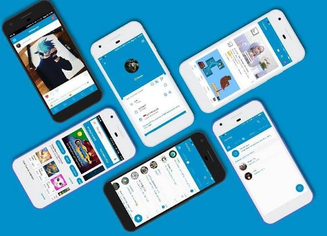 Screenshoot Themes MIUI Flat Blue V1 & V2 Update MTZ For Xiaomi