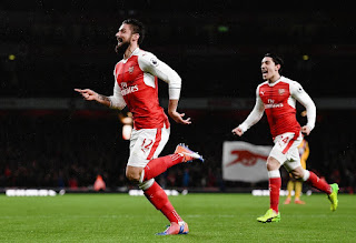 PHOTOS: Arsenal Stars' Reactions To Win & Olivier Giroud's Goal