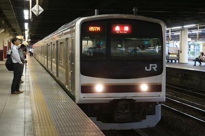 日光線宇都宮駅停車中の205系600番台
