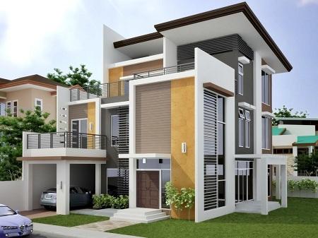 Warna Cat Rumah Minimalis Modern - Dindin Design
