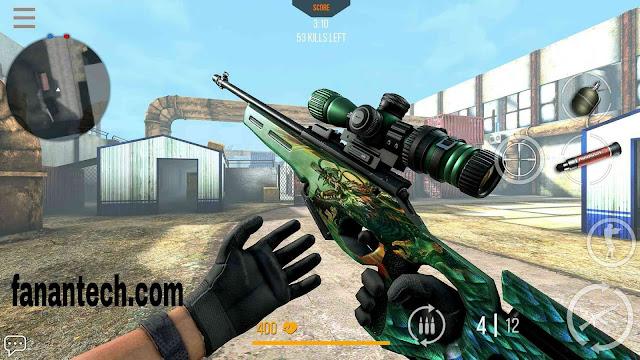 تحميل لعبة مودرن سترايك اون لاين Modern Strike Online مهكرة للاندرويد