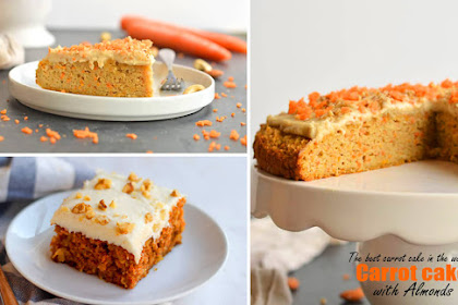 The best carrot cake in the world - Carrot cake with almonds