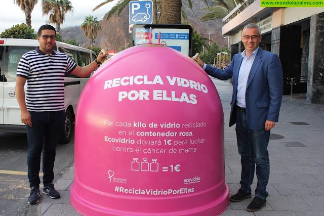 Ecovidrio y el Ayuntamiento de Santa Cruz de la Palma presentan la campaña 'Recicla vidrio por ellas' con motivo del Día Mundial del Cáncer de Mama