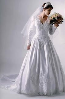 modelo de vestido de noiva com manga longa - dicas e fotos