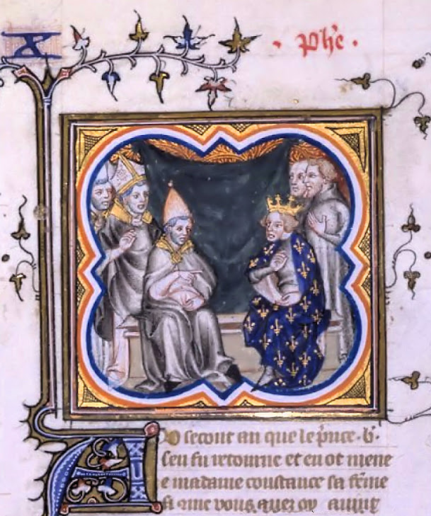 O Papa Pasqual II recebe ao rei da França Filipe I