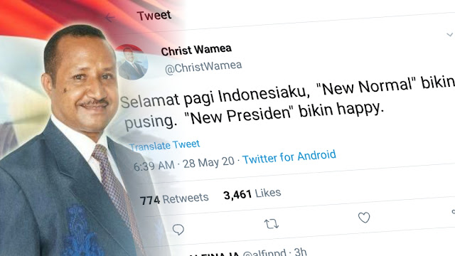 Tokoh Papua: Selamat Pagi Indonesiaku… New Normal Bikin Pusing, New Presiden Bikin Happy